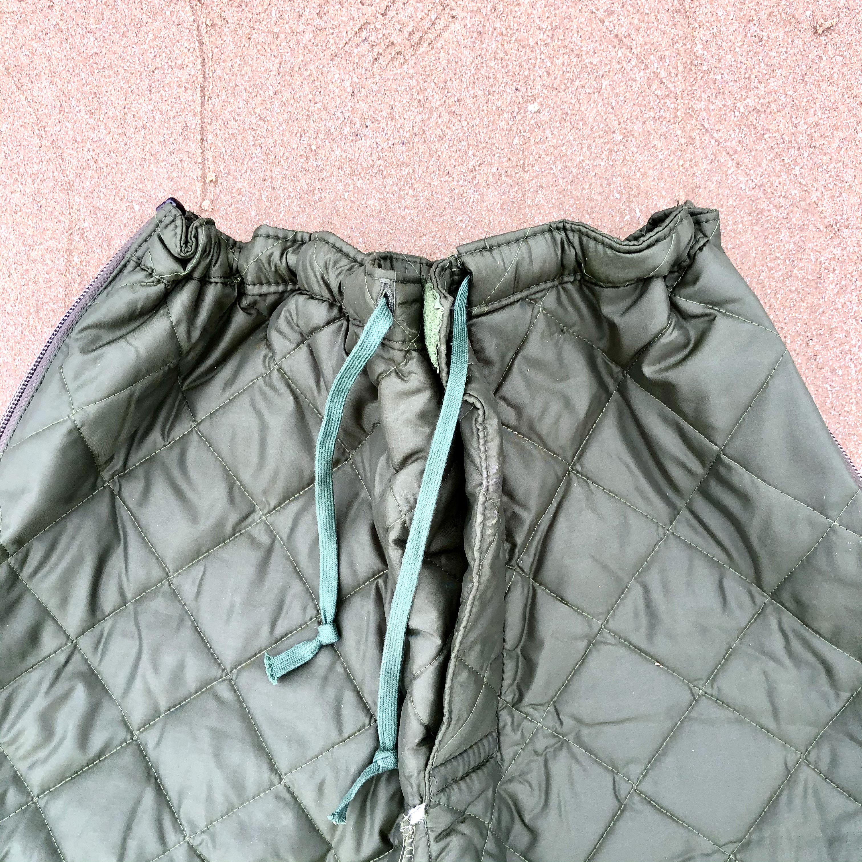 Vintage zip side cropped liner trousers