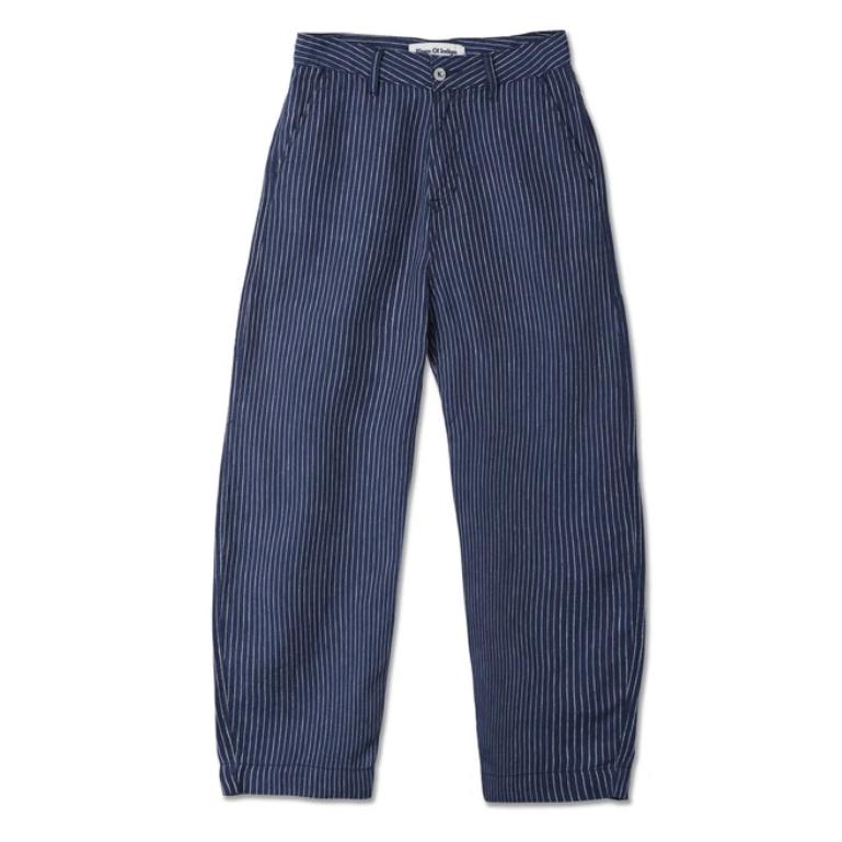 Kings of Indigo- Leila linen pinstripe trousers- ON SALE