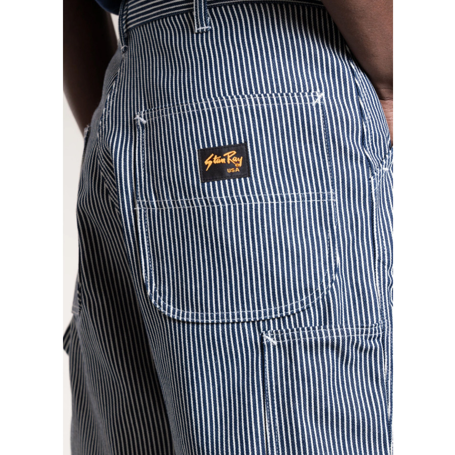 Stan Ray- Hickory stripe 80s painter shorts- ON SALE