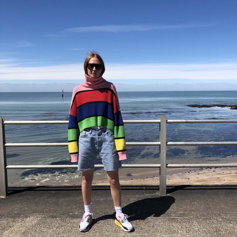 Lazy Oaf- Bright stripe jumper- ON SALE