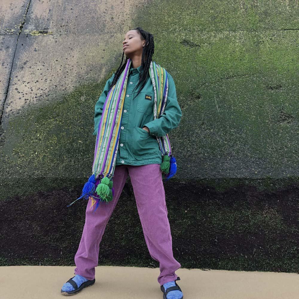 Stan Ray Cord Painter Pants- Purple- ON SALE