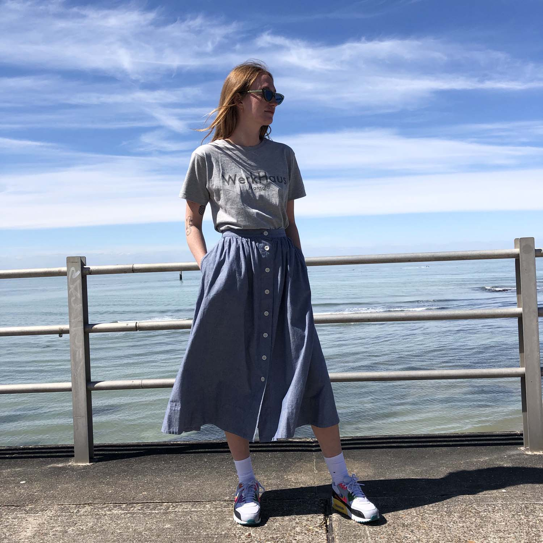 Kings of Indigo- Benten chambray skirt- ON SALE