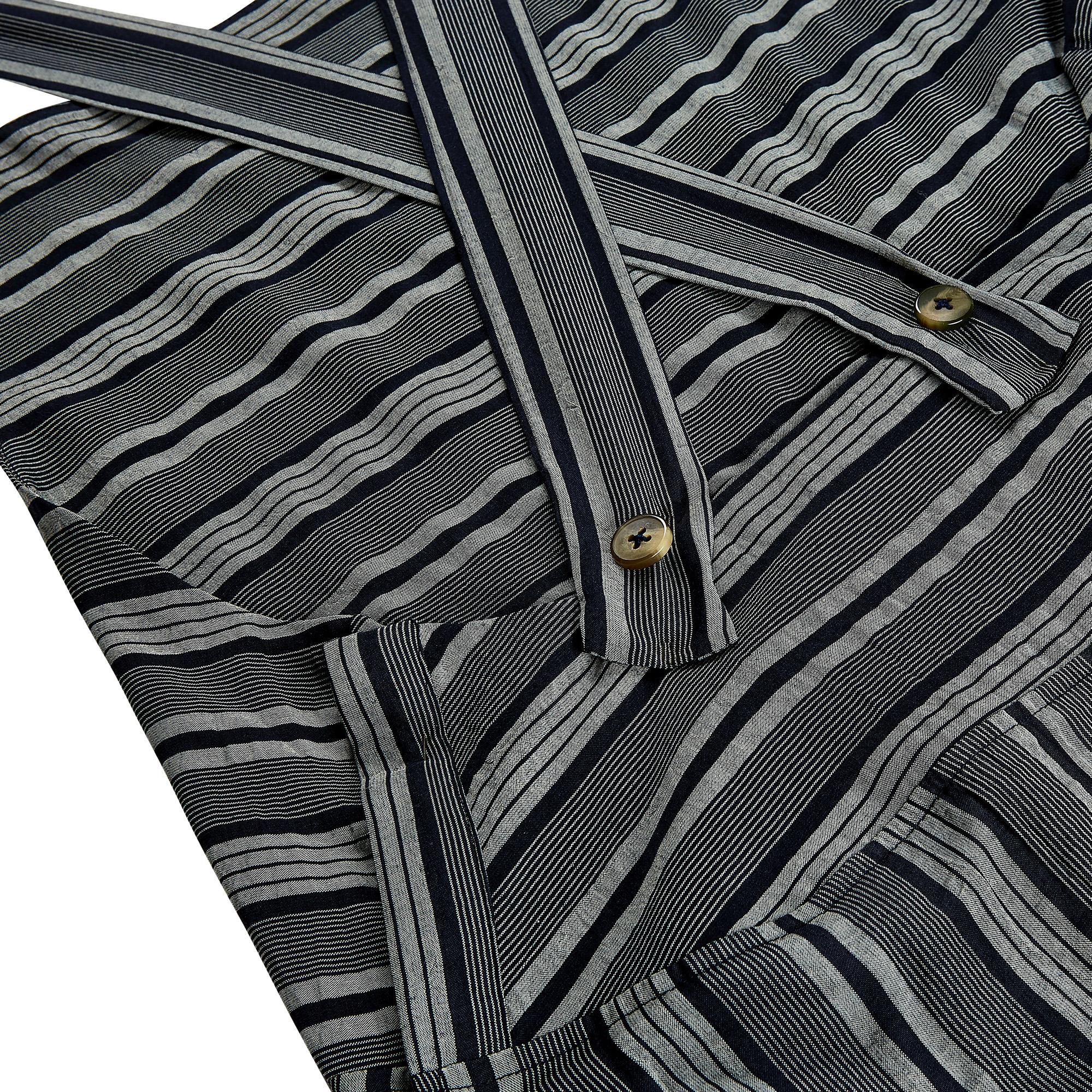 WerkHaus Margate- Navy & white apron dress