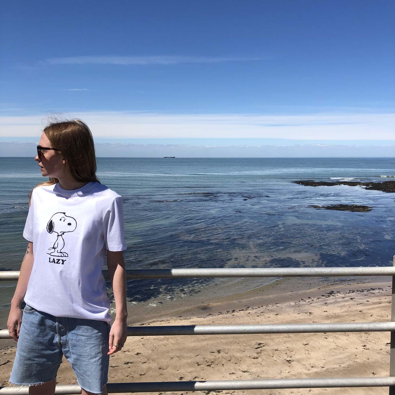Lazy Oaf x Peanuts- White Snoopy T-shirt- ON SALE