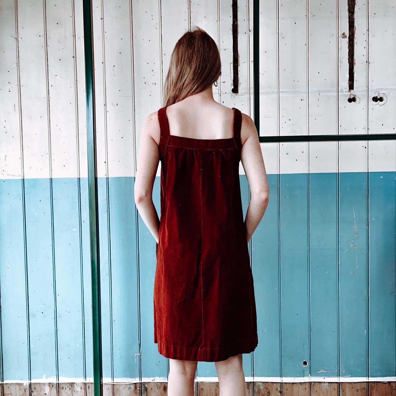 Vintage- Red corduroy dress
