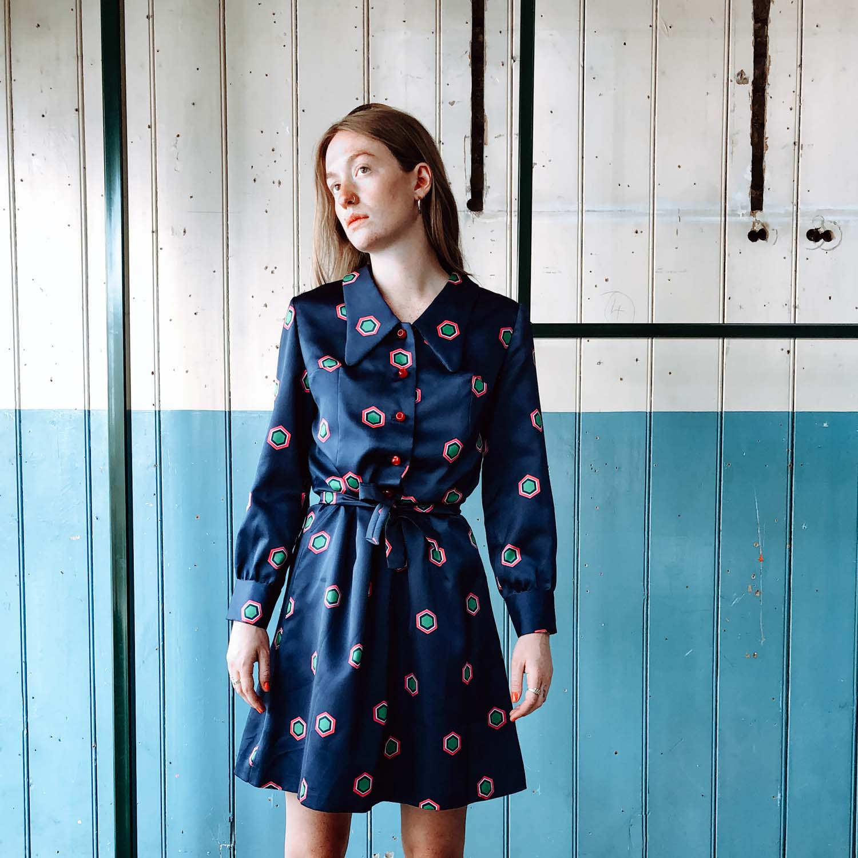 Vintage- Printed dress