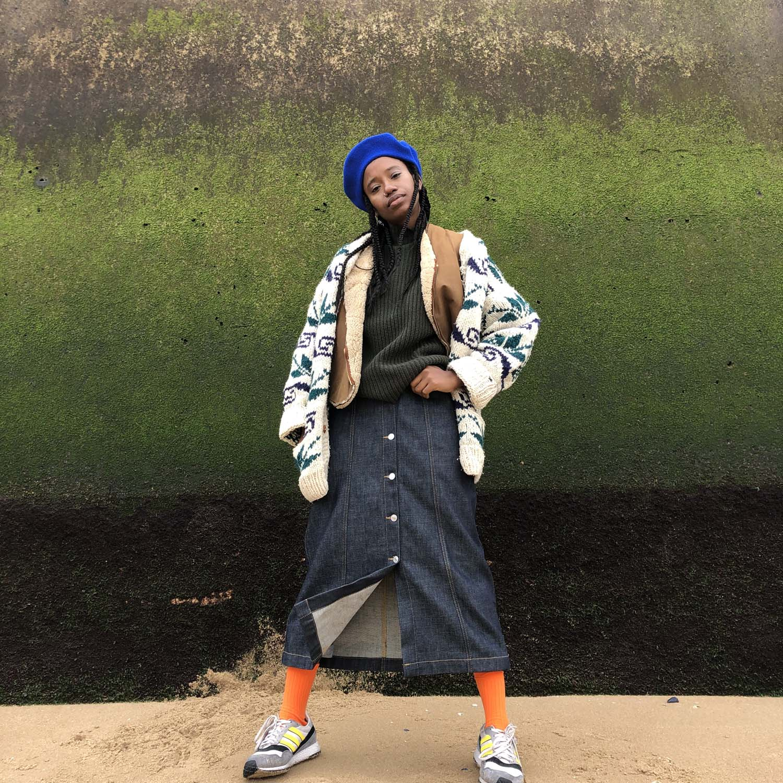 Kings of Indigo Atsuko dry denim skirt