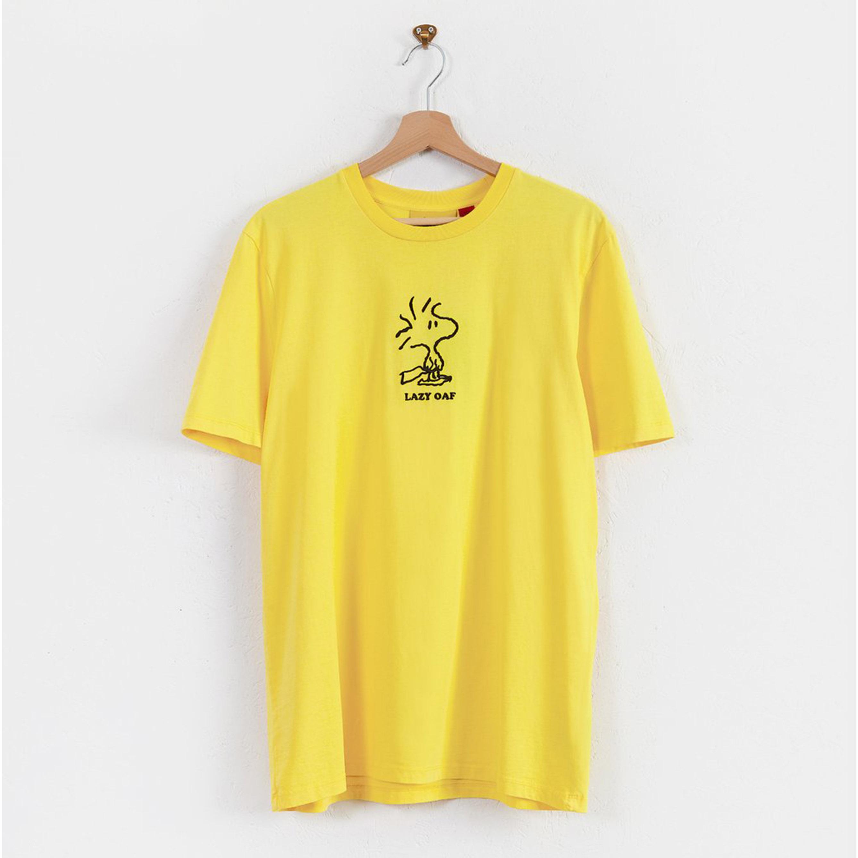 Lazy Oaf x Peanuts- Yellow Woodstock T-shirt- ON SALE