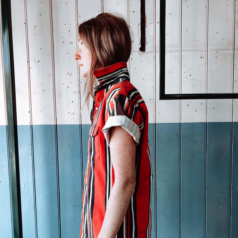 Vintage- Stripe print shirt