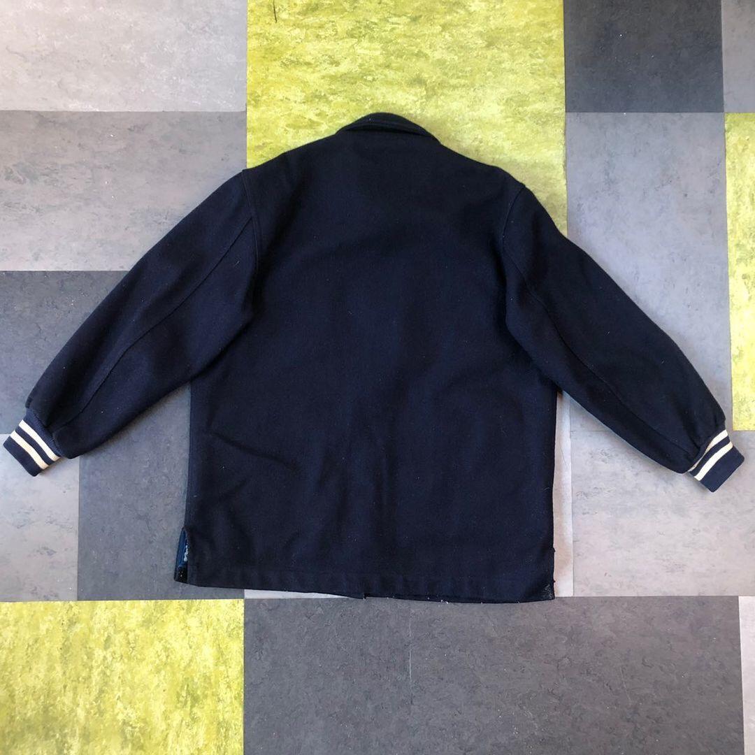 Vintage varsity jacket- Navy Coach