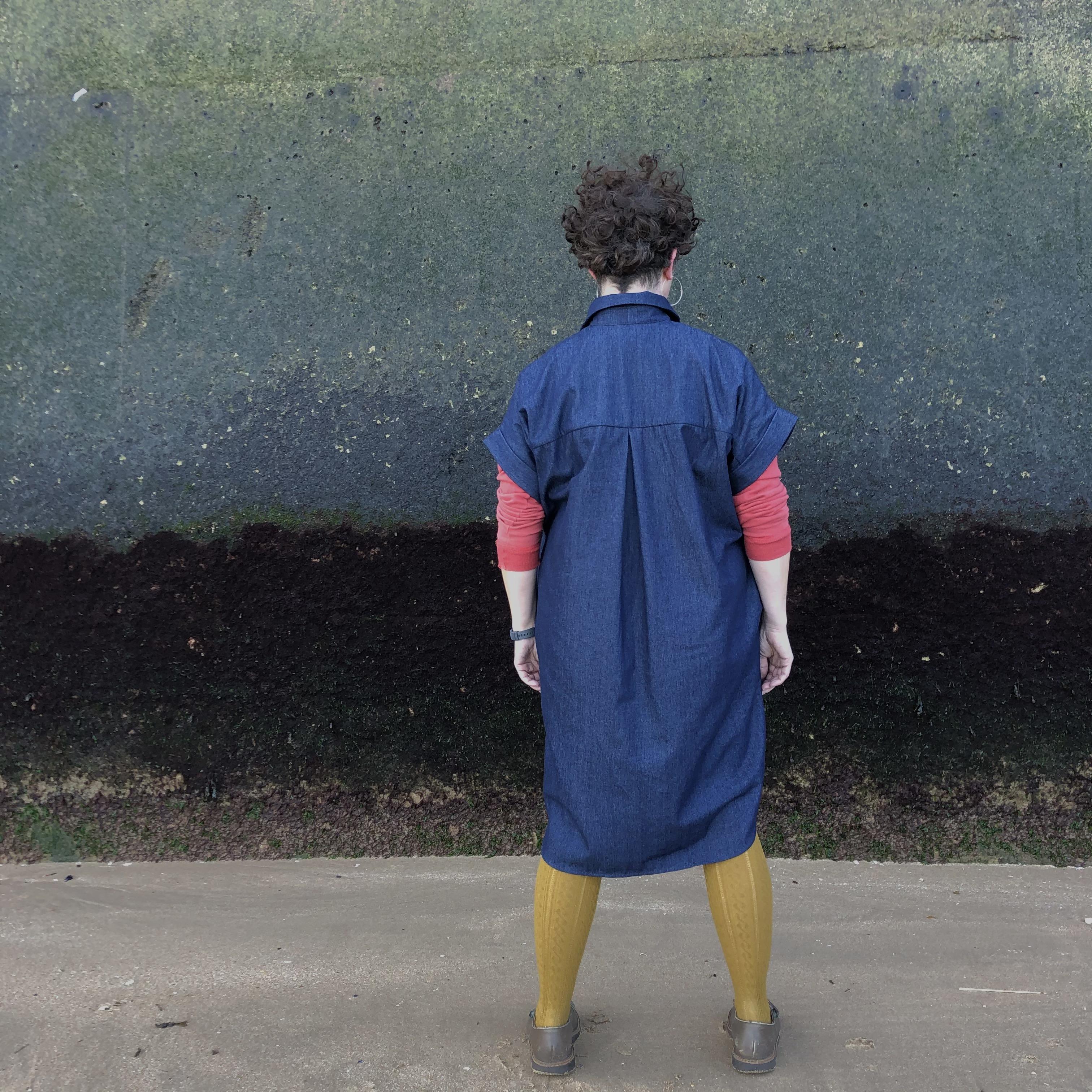 WerkHaus Margate denim shirt-dress
