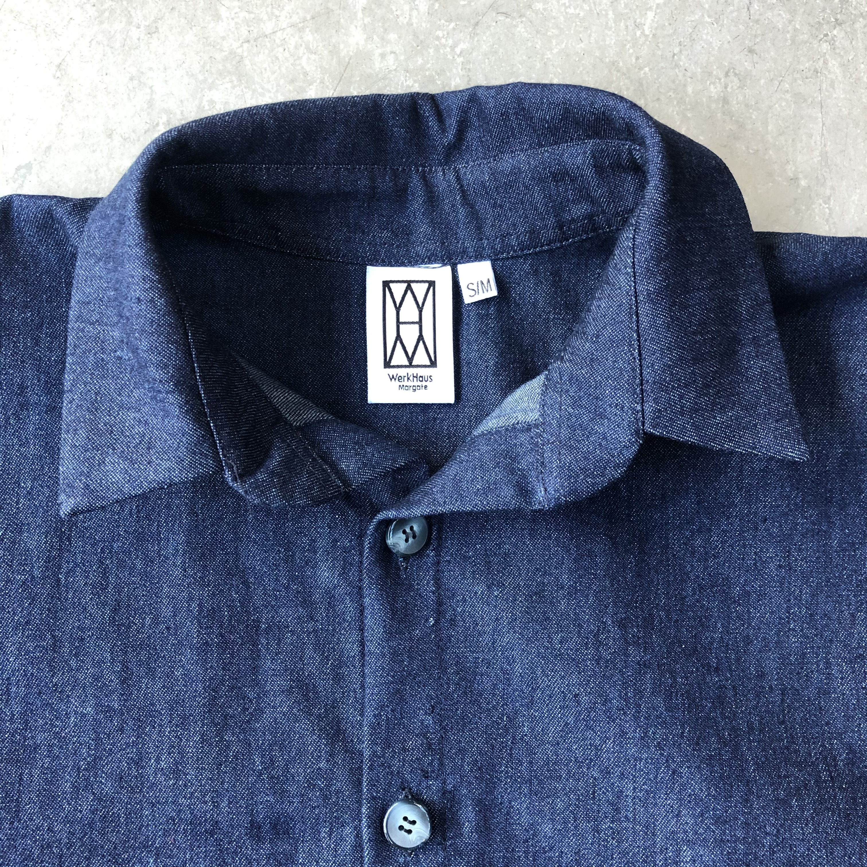 WerkHaus Margate denim shirt-dress
