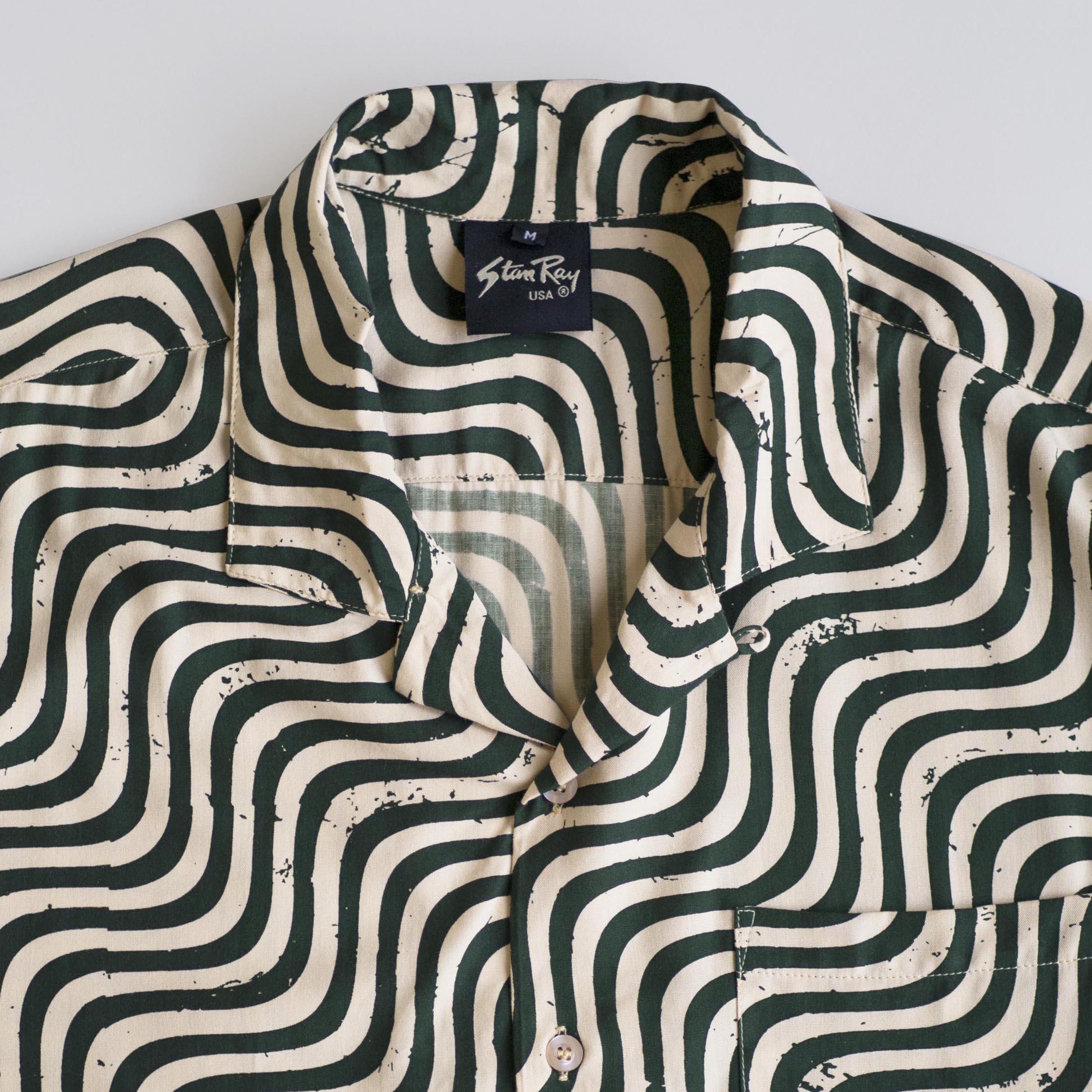 Stan Ray- Kelapa Batik shirt- Olive Wave- ON SALE