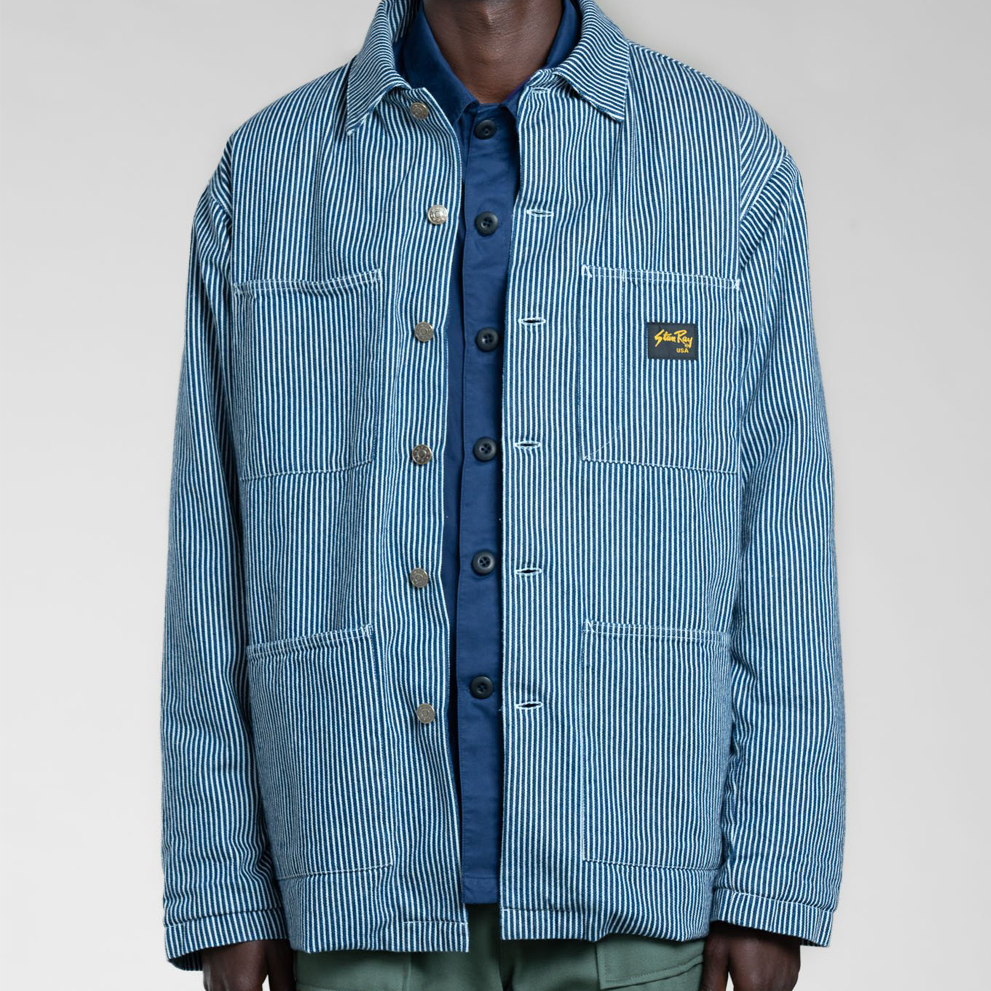 Stan Ray- Hickory stripe lined shop jacket