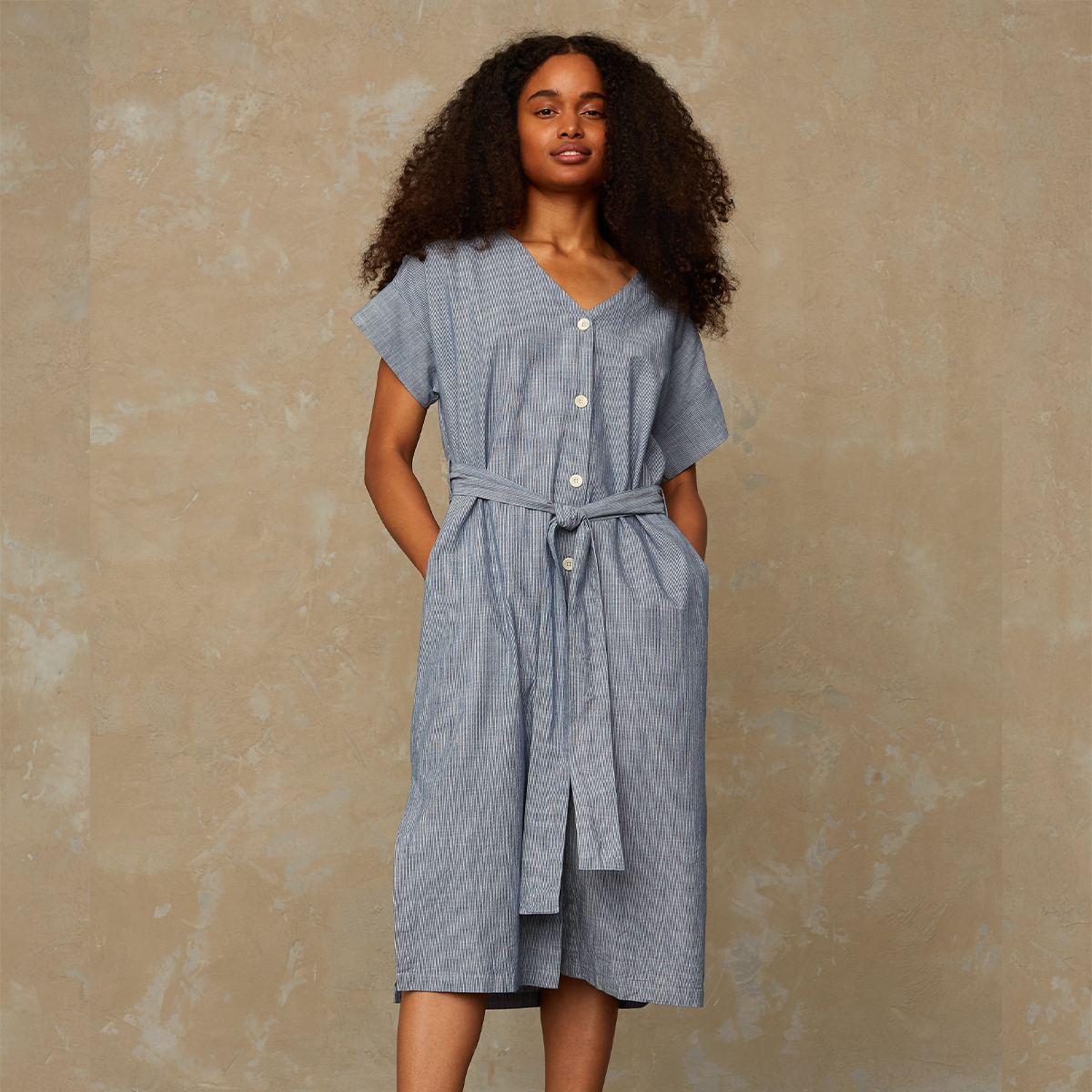 Kings of Indigo- Mia stripe dress