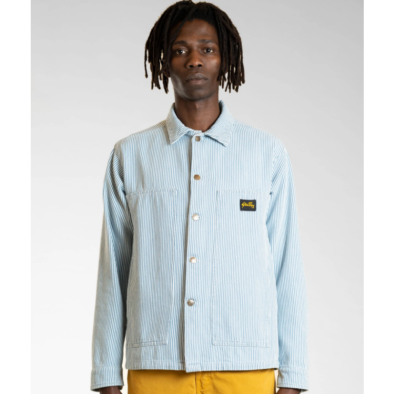 Stan Ray- bleached Hickory stripe Box jacket- ON SALE