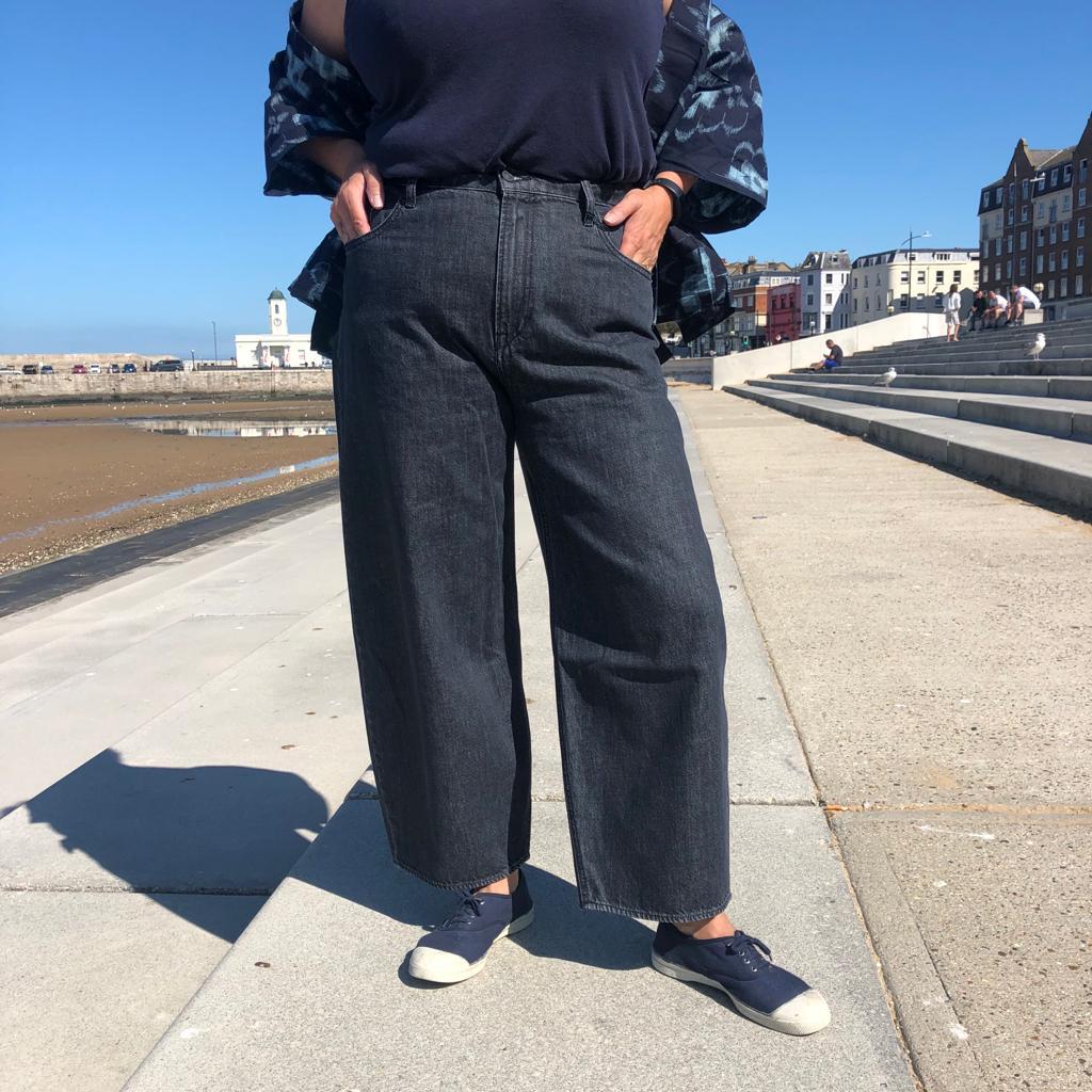 Kings of Indigo Leila Balloon Jeans- Grey- ON SALE