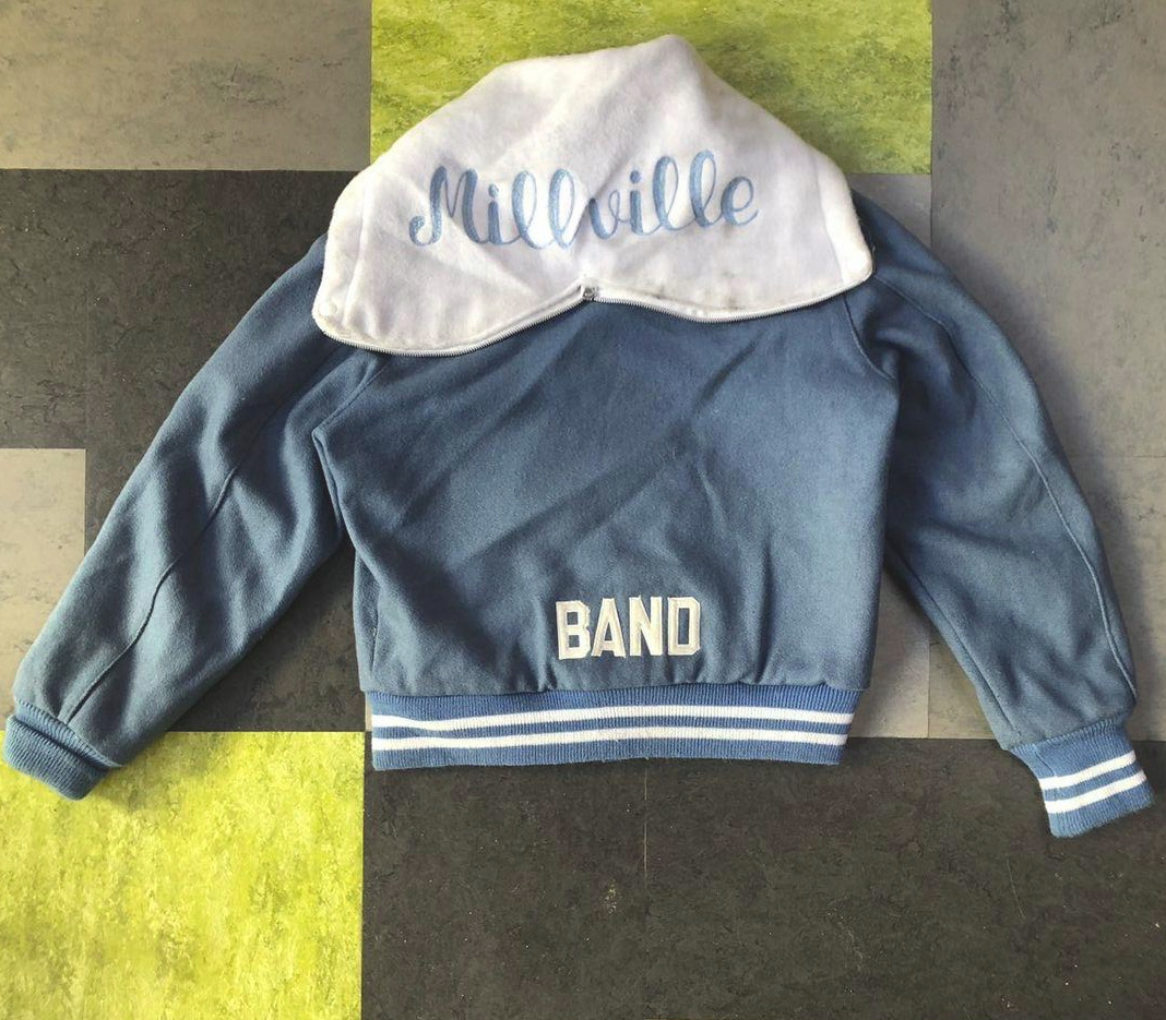 Vintage varsity jacket- Pale Blue cheerleader