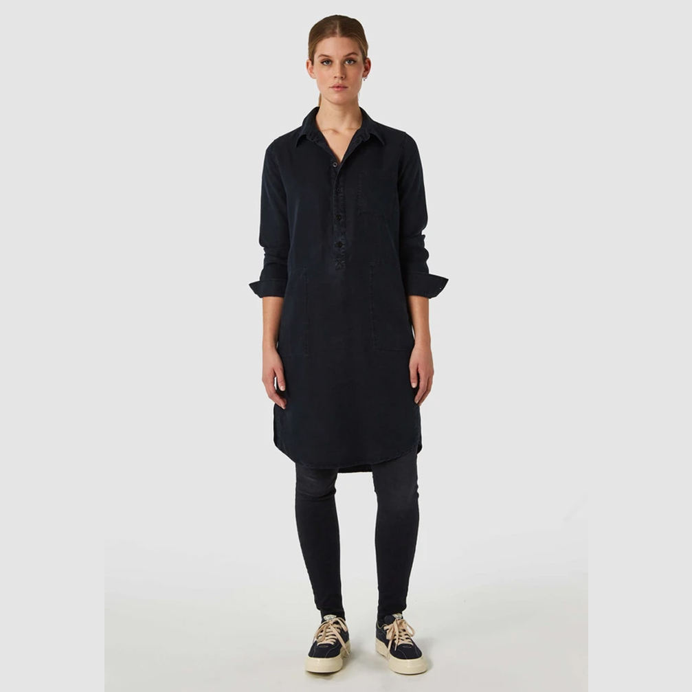 Kings of Indigo Emiko Tencel shirt-dress