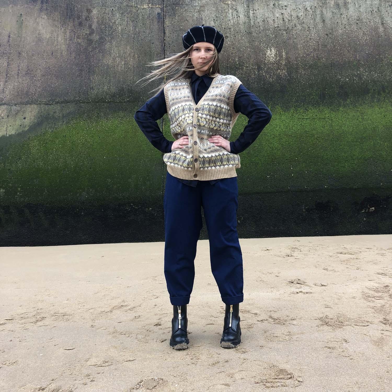 Kings of Indigo- Lourdes trousers- Indigo crinkle- ON SALE