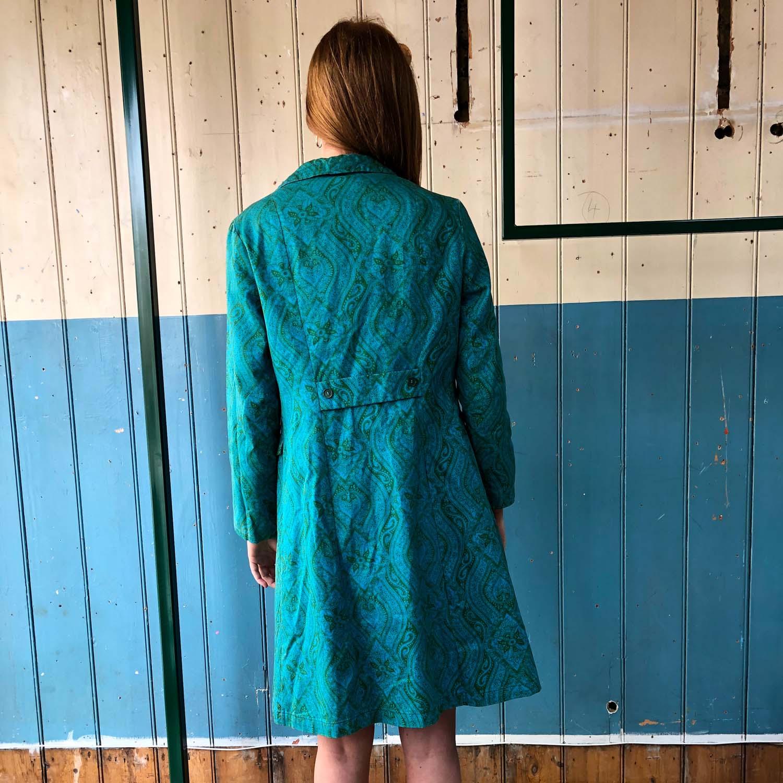 Vintage-1970s Printed paisley duster coat