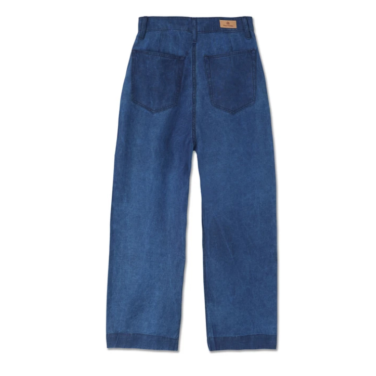 Kings of Indigo- Leila navy linen trousers- ON SALE