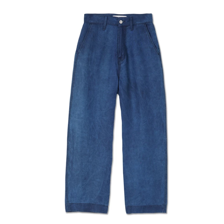 Kings of Indigo- Leila navy linen trousers
