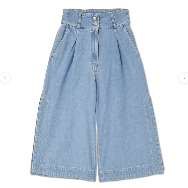Kings of Indigo- Hatsusebe denim culottes- ON SALE