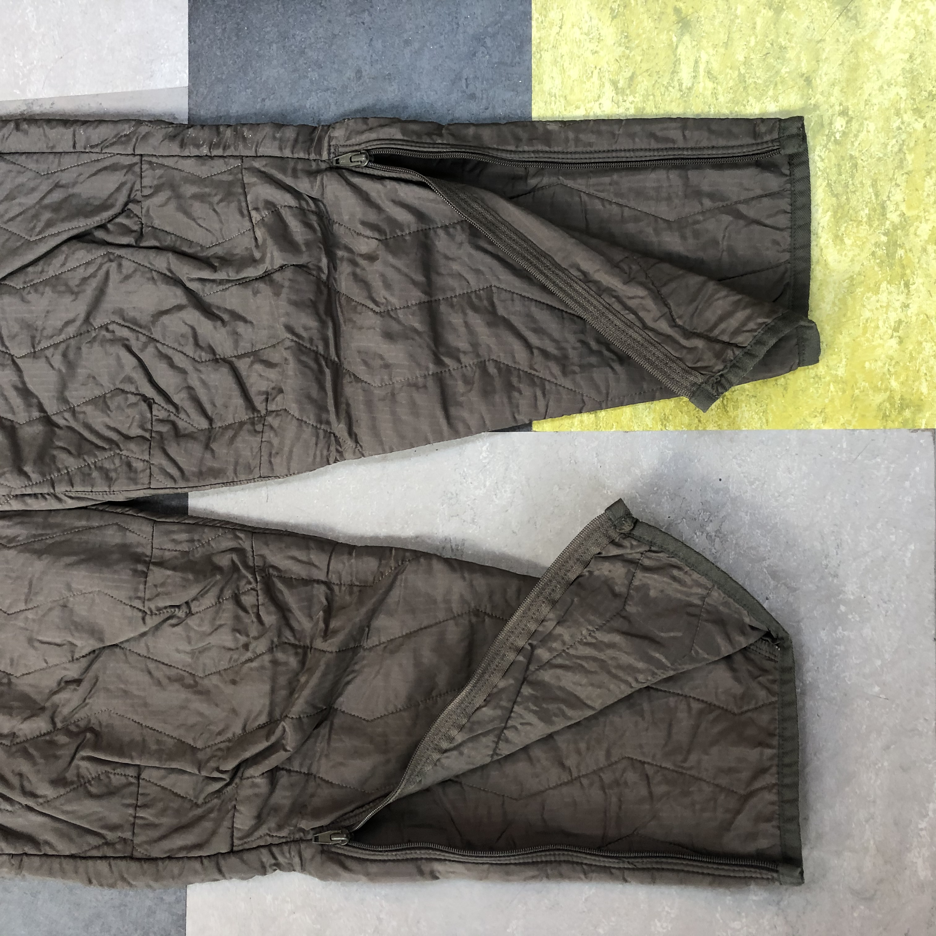 Vintage quilted boilersuit with pocket