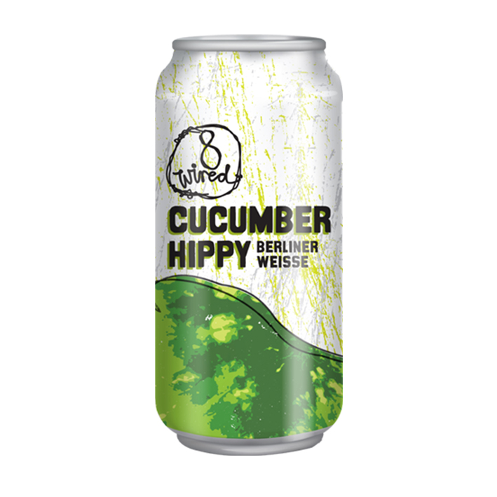 8 WIRED CUCUMBER HIPPY SOUR 4.0%