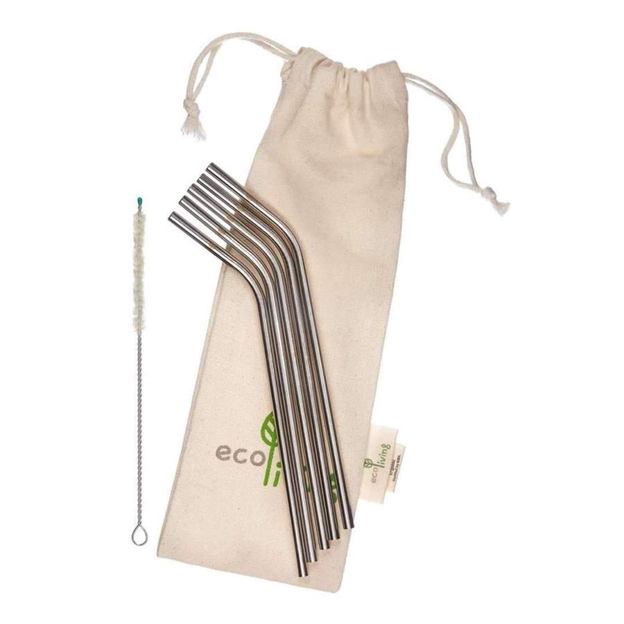 Stainless Steel Reusable Straws - pack of 5