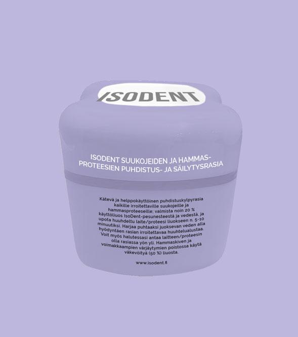 IsoDent suukojeiden ja hammasproteesien puhdistus- ja säilytysrasia