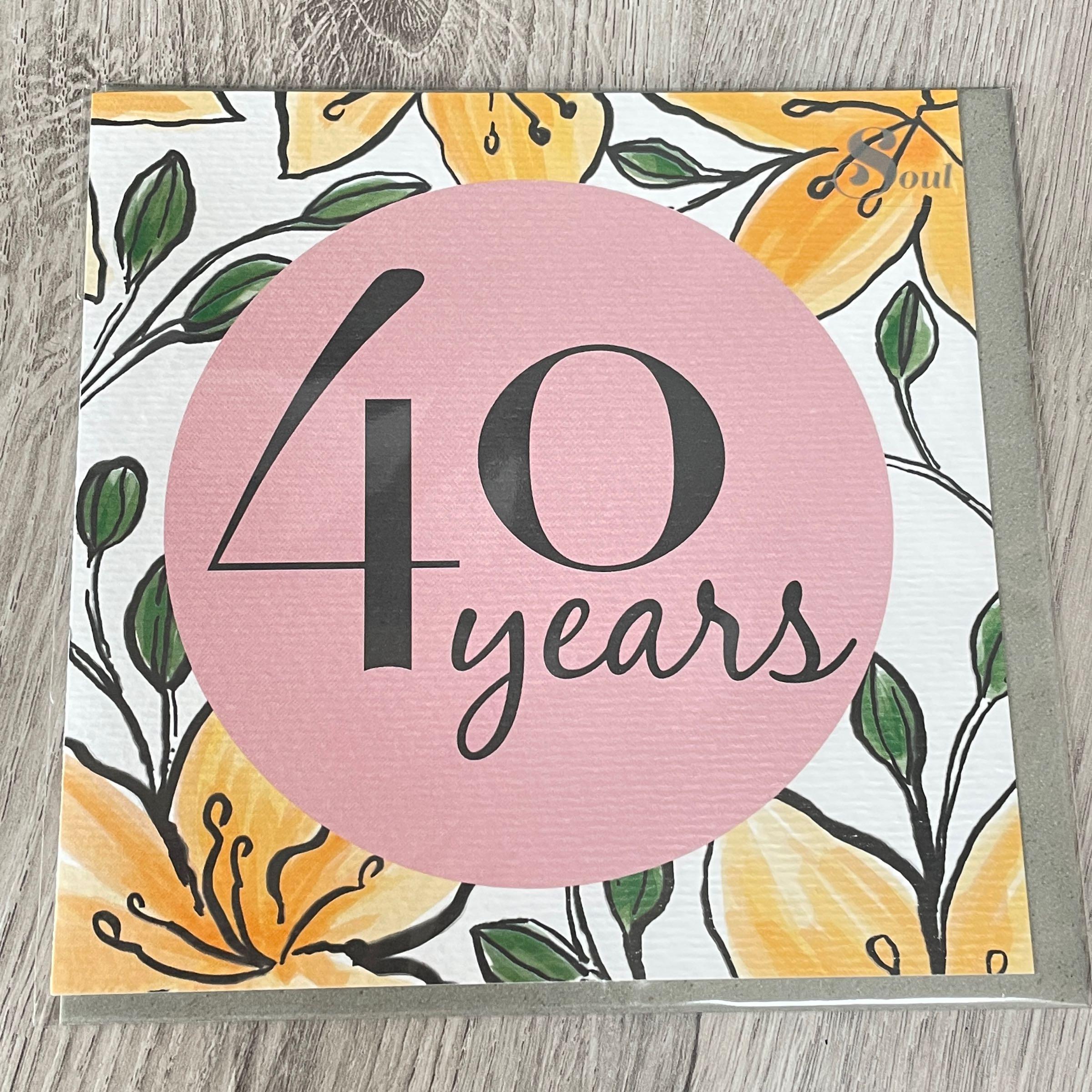 40 years. Secret garden birthday card