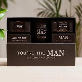 "Castelbel Gift set ""You're the Man"" tvål & doftljus"