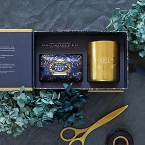 Castelbel Gift set Festive blue Tvål & Doftljus