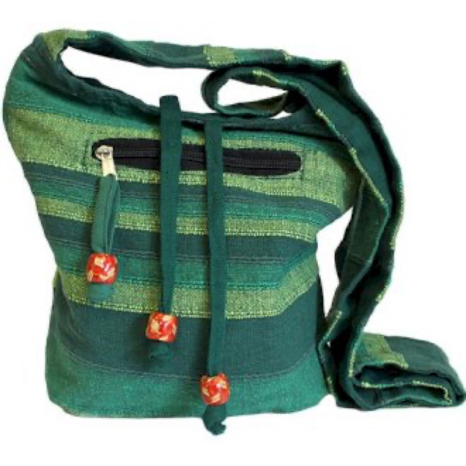 Forest Green Nepal Sling Bag
