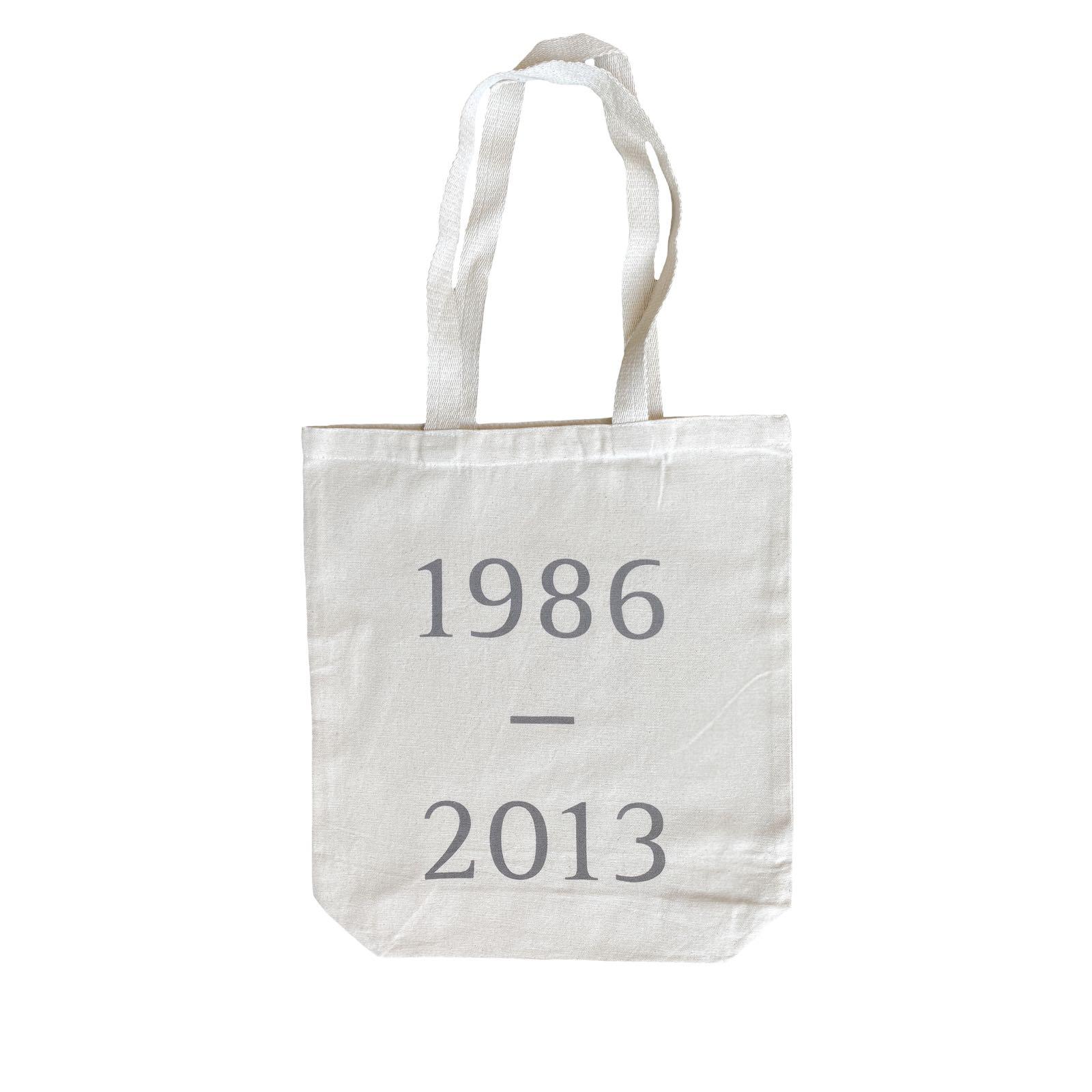 1986-2013 tote bag