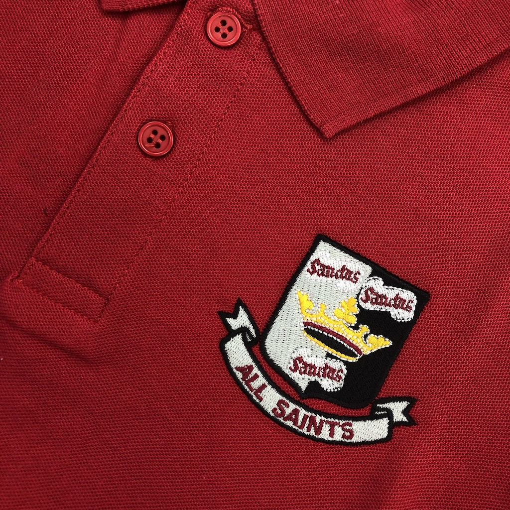 2 x All Saints' Red Polo