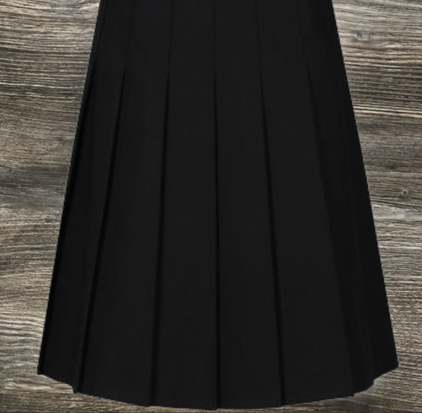 Black Trutex Stitch-Down Skirt