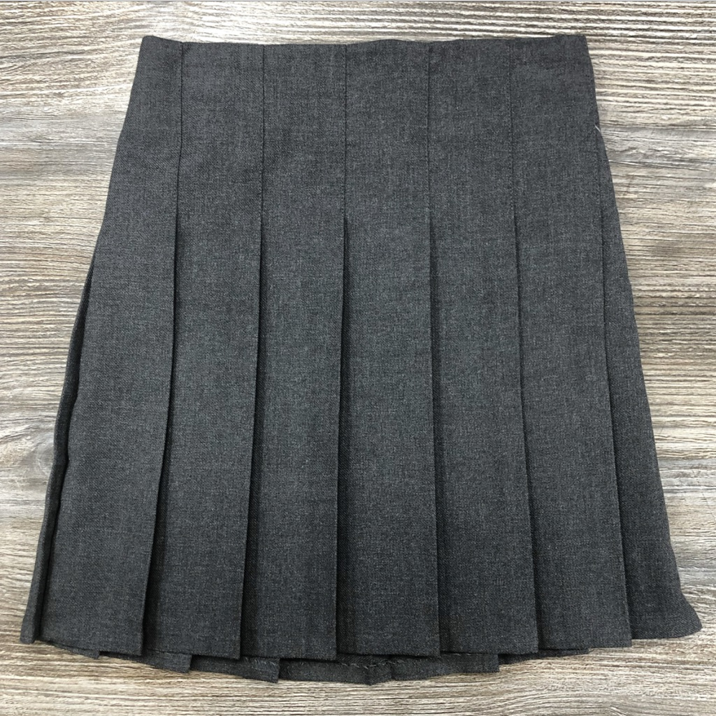 Trutex Grey Stitch Down Pleated Skirt (Aged)