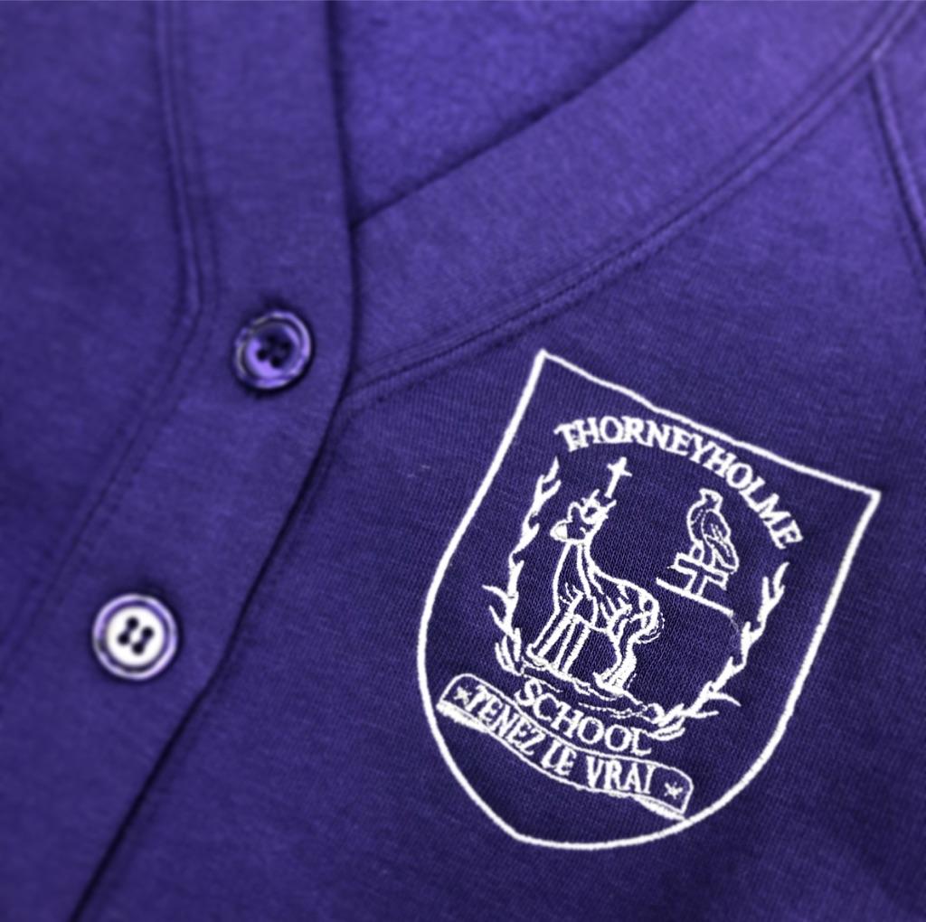 Thorneyholme Purple Cardi