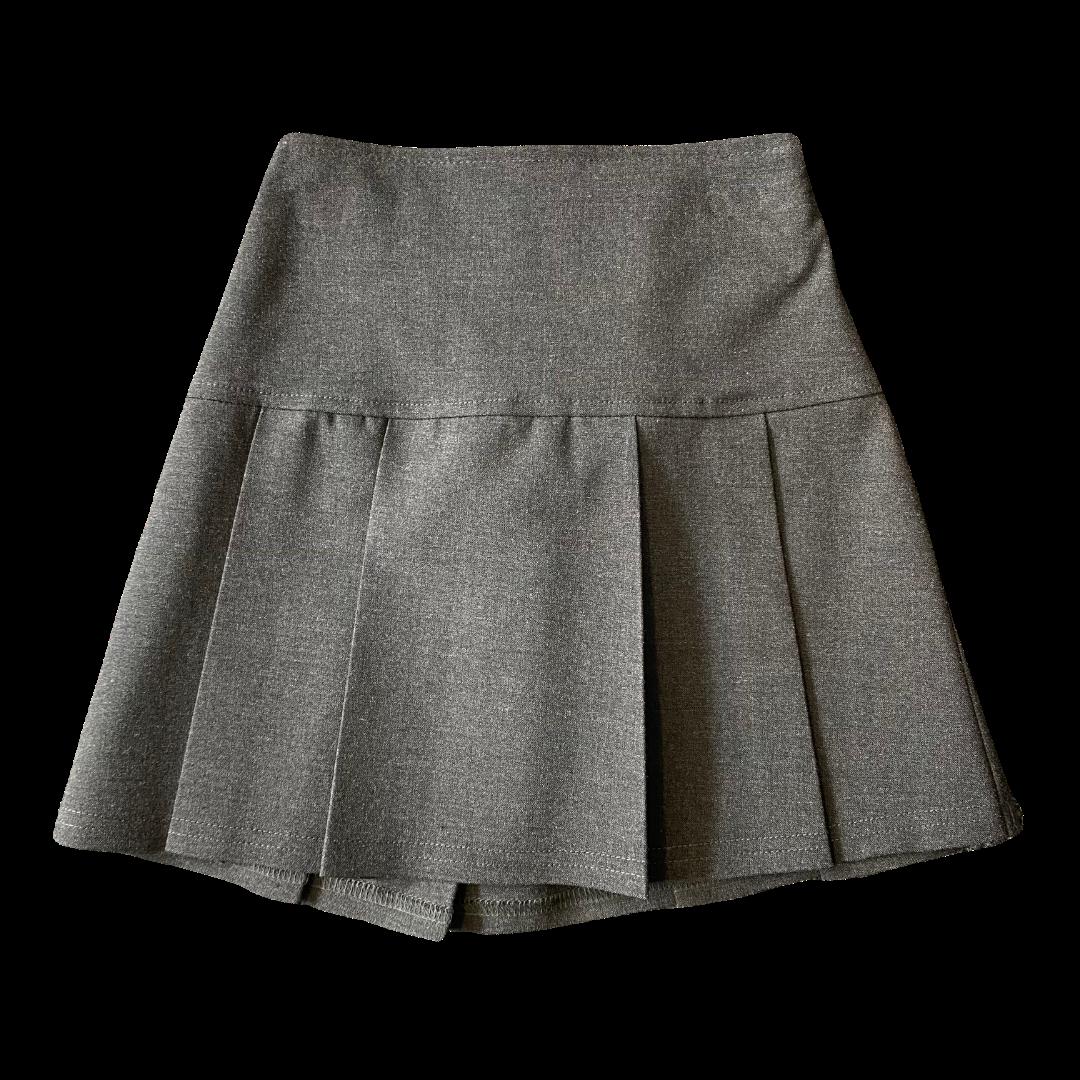 Grey Junior Drop Waist Skirt