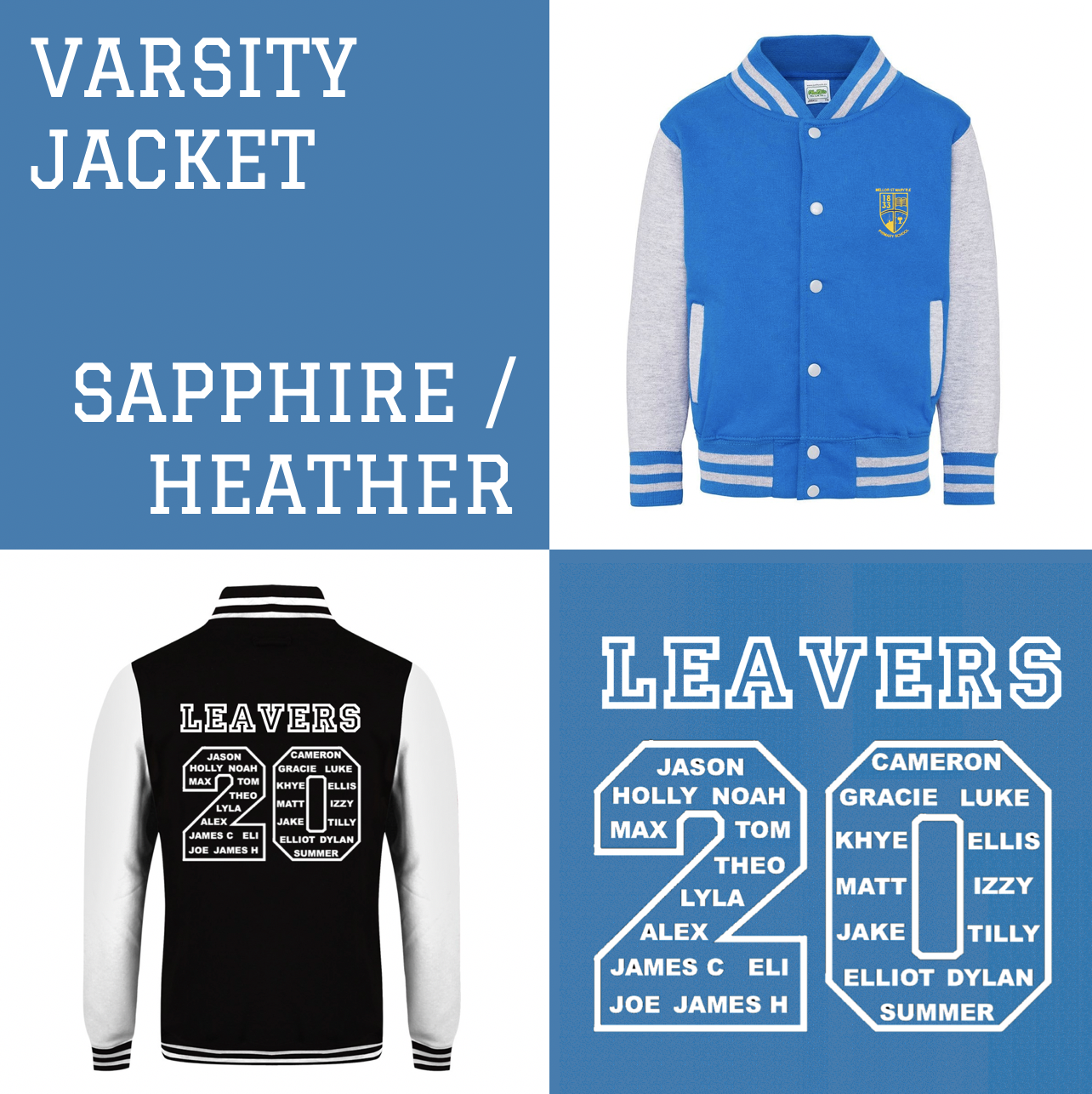 EXAMPLE - St Mary Mellor 2020 Leaver's Hoodies