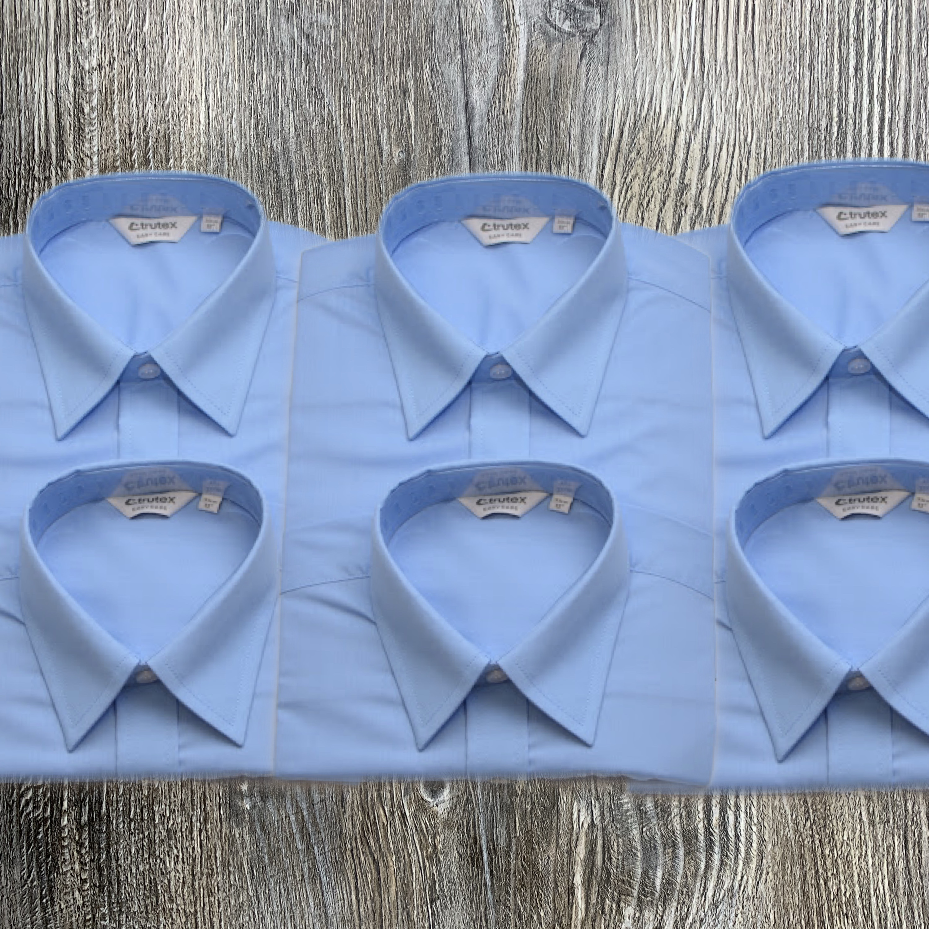 3 x Twin Pack Blue Shirts