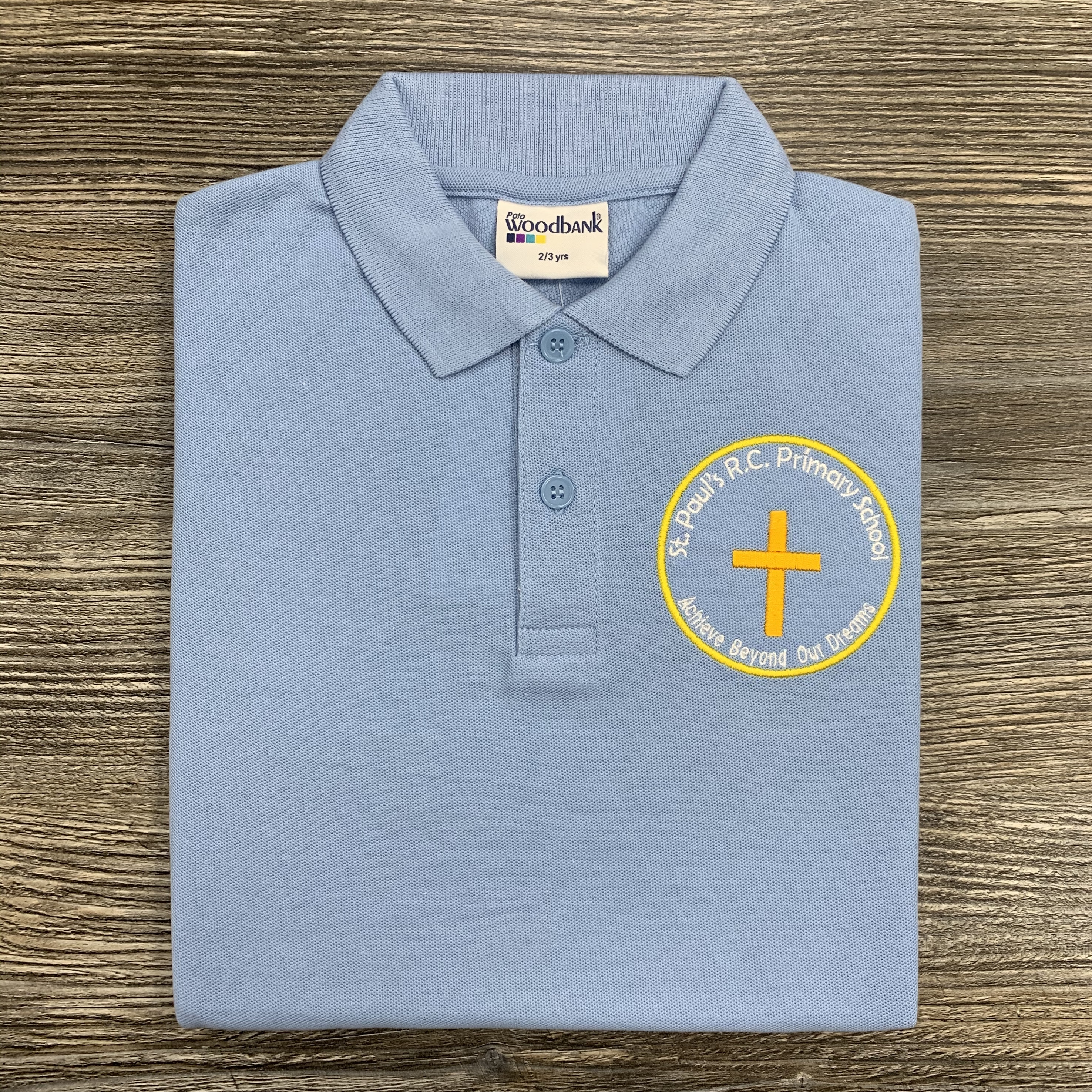 St Pauls Feniscowles Light Blue Polo