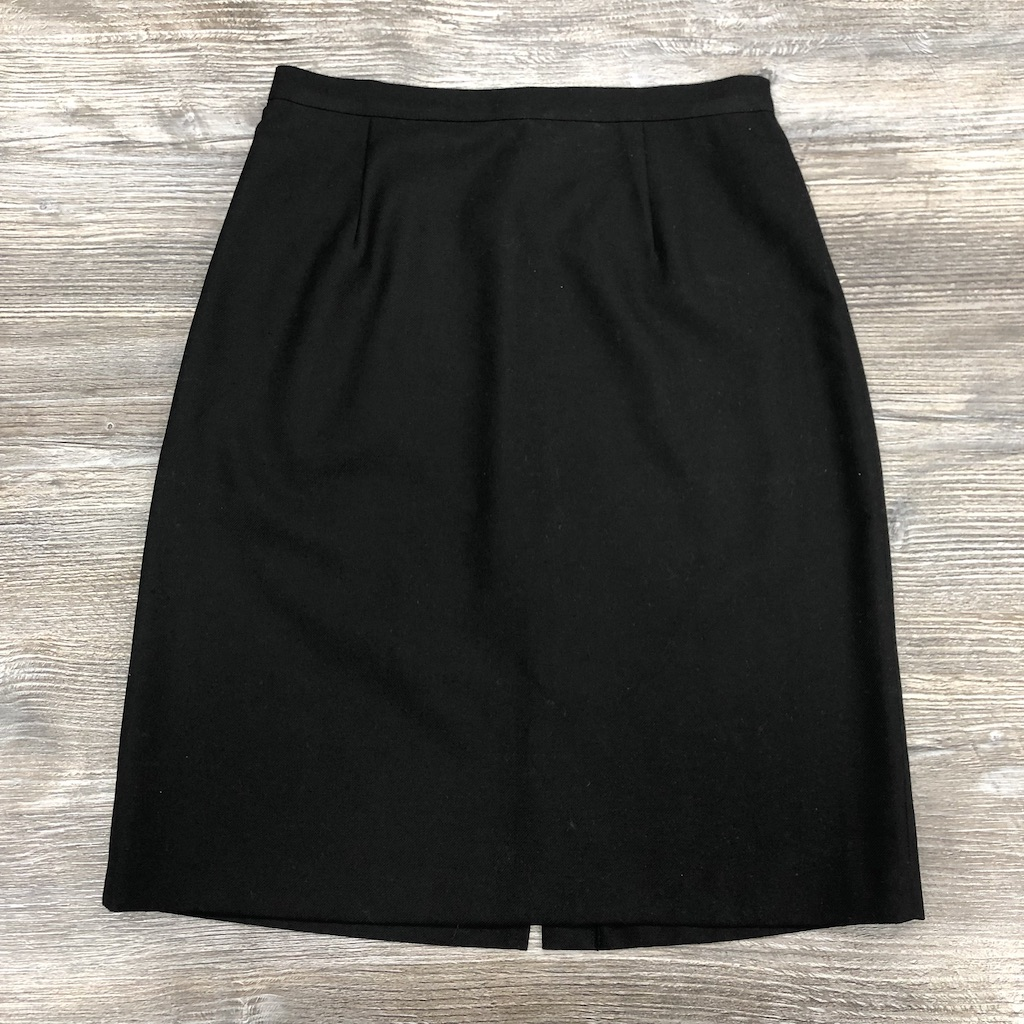 Black Back-Vent Skirt