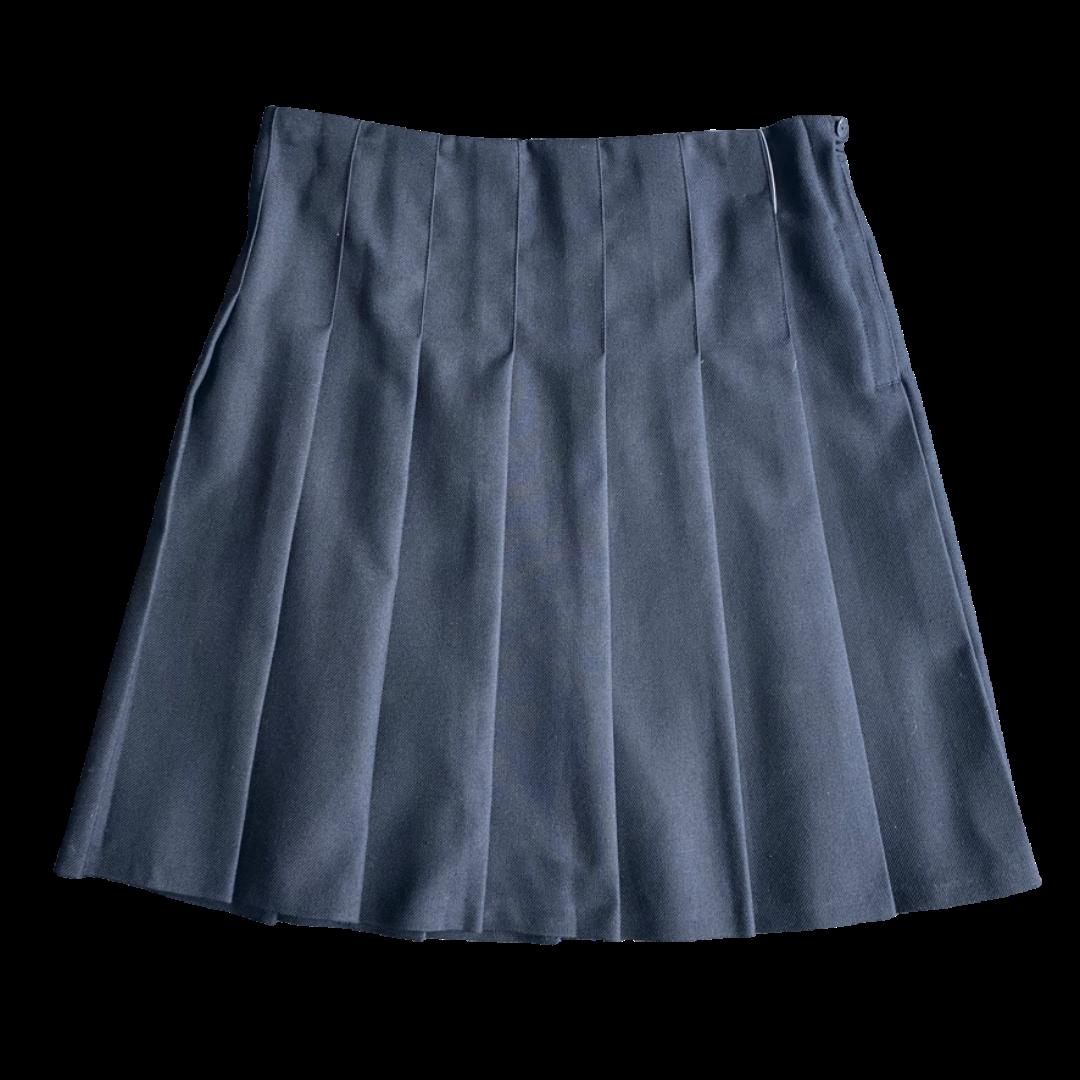 Navy Stitch-Down Skirt (Waist Sizes)