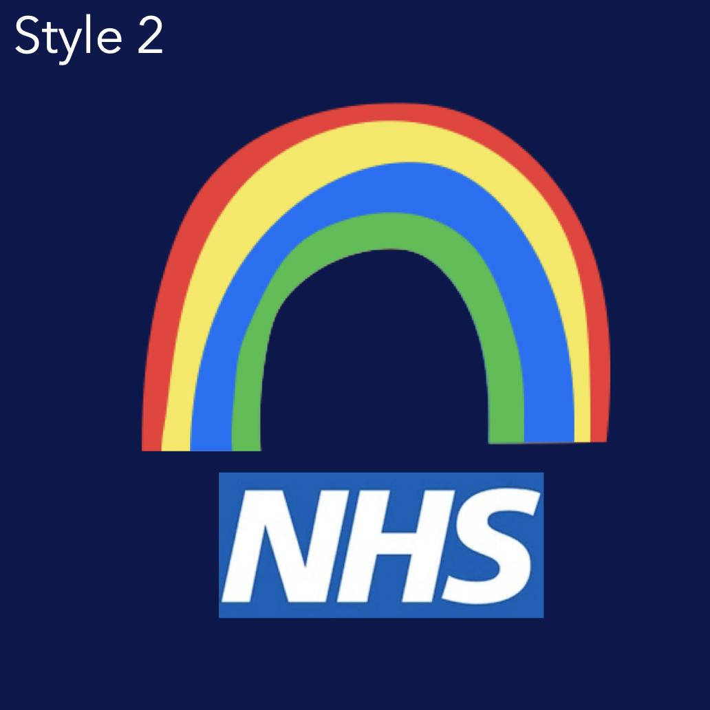 NHS Personalised Rainbow Hoodie