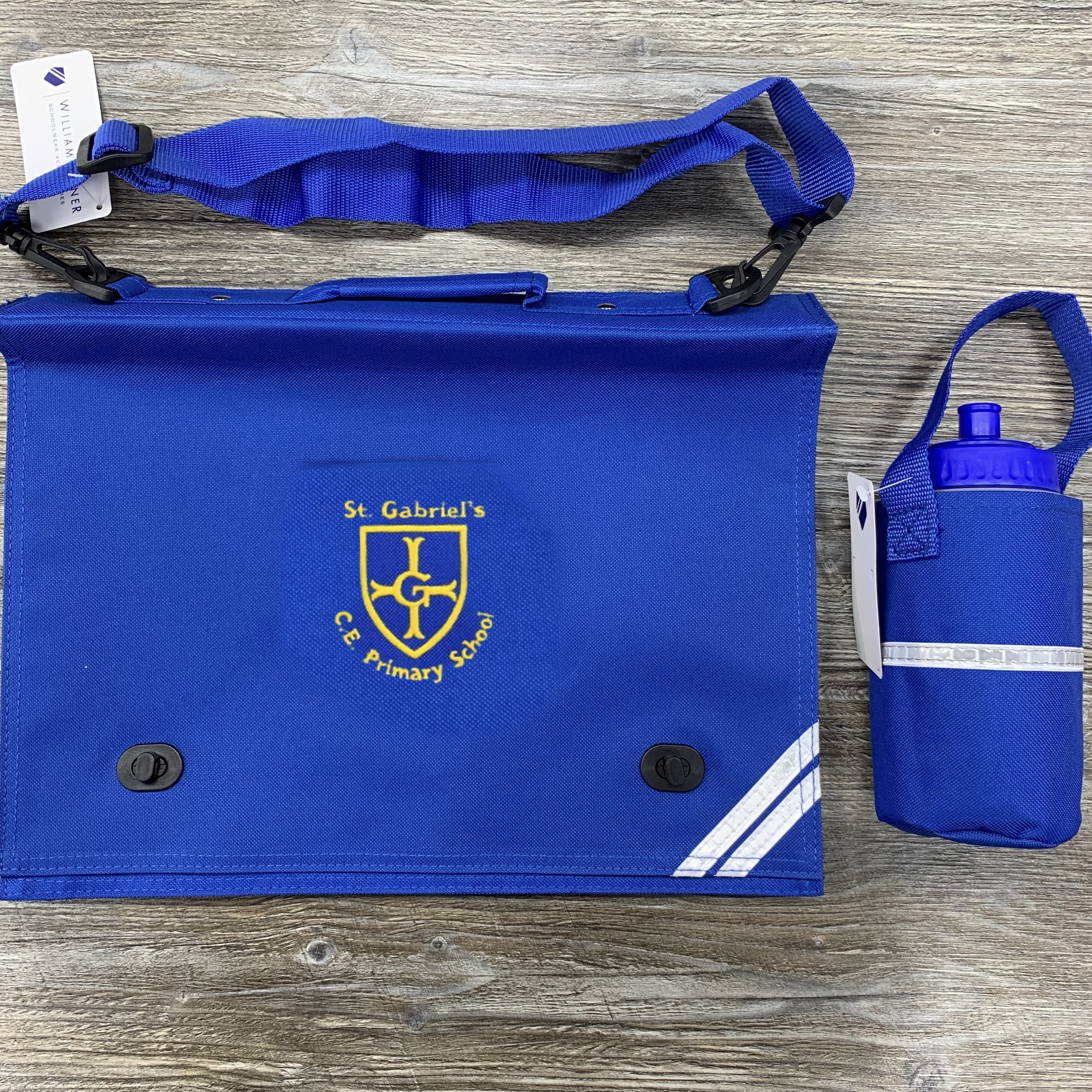 St Gabriels Document Bag & Water Bottle