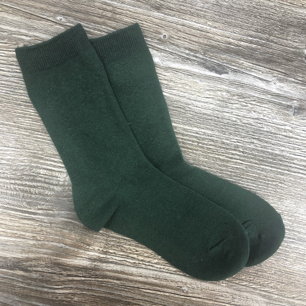Bottle Green Short Socks
